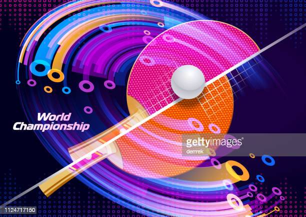 table tennis - tournament of champions stock illustrations, clip art, cartoons, & icons
