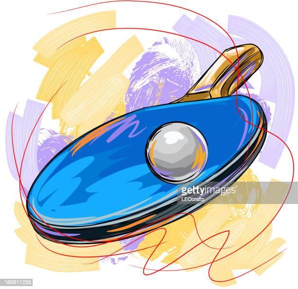 Illustrations et dessins anim s de tennis de table getty - Tennis de table poitou charente ...