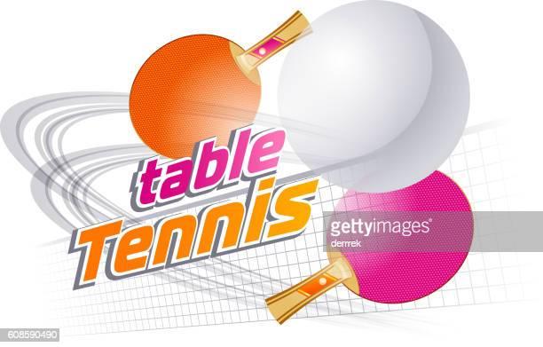 Illustrations et dessins anim s de tennis de table getty - Friendship tennis de table ...