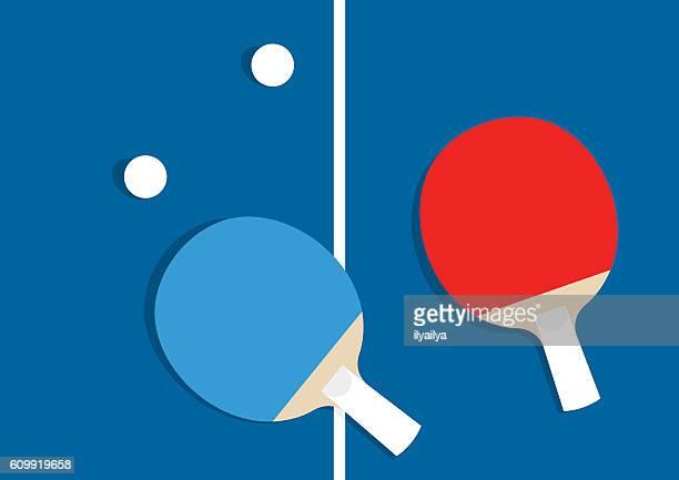 ilustraciones, imágenes clip art, dibujos animados e iconos de stock de ilustración de vectores de tenis de mesa - tenis de mesa