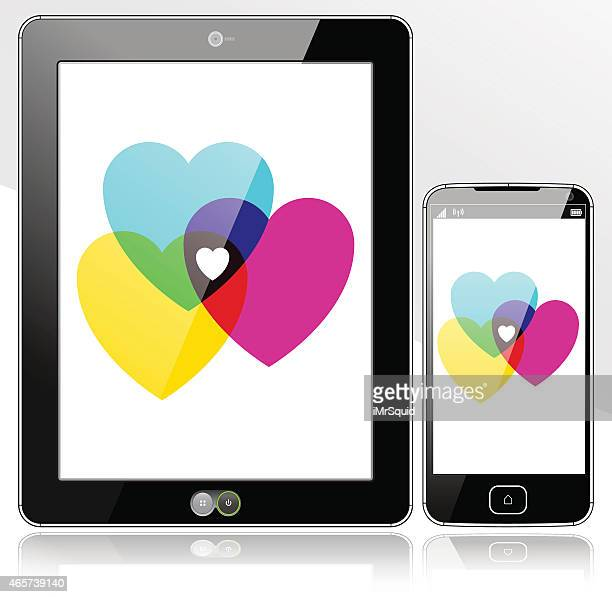 Tablet and SmartPhone Digital Hearts