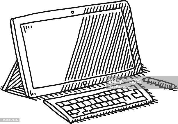 Tablet Computer Keyboard Pen Drawing
