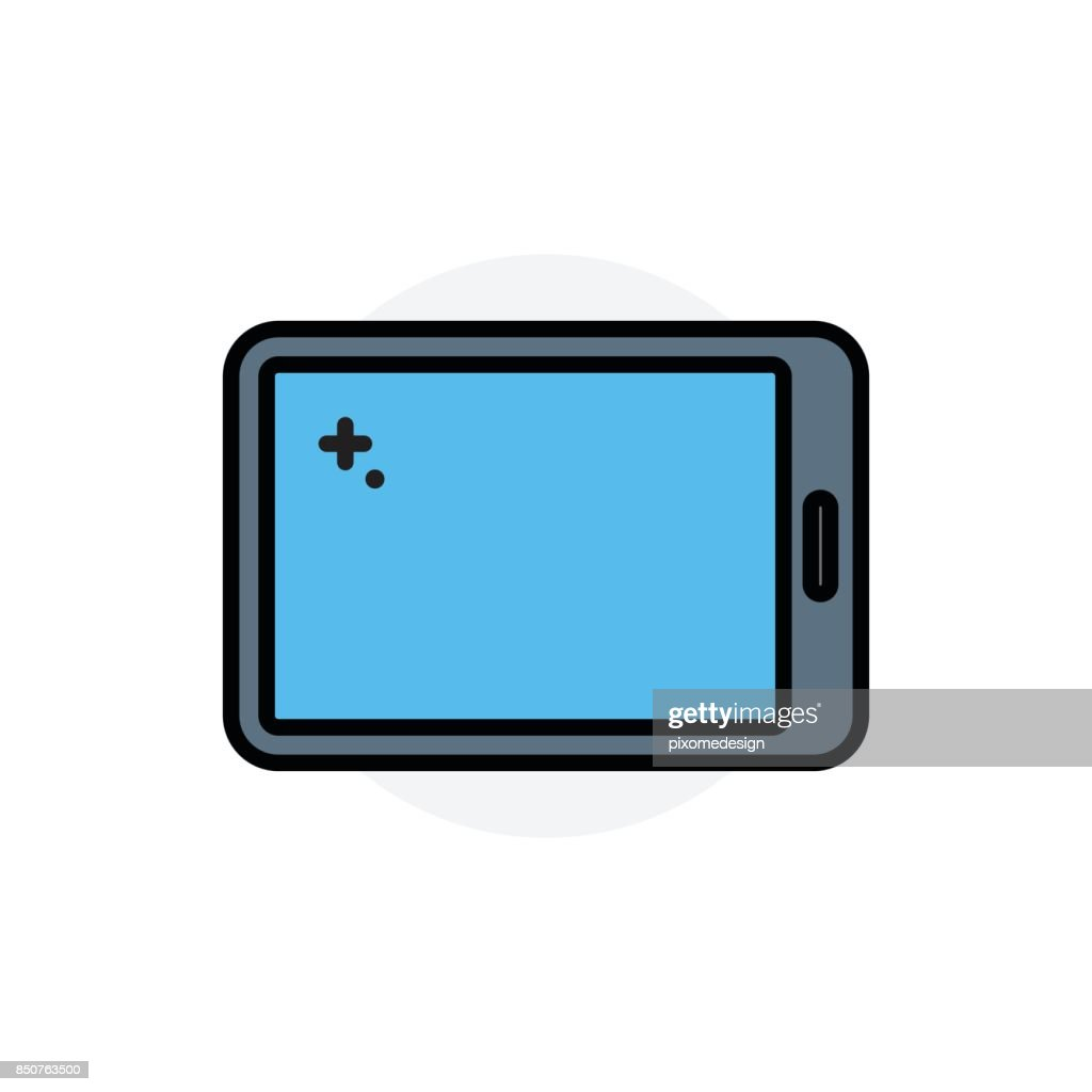 Tablet device concept Isolated Line Vector Illustration editable Icon