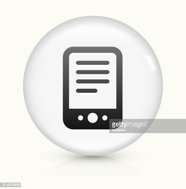tablet symbol auf weißer runder vektor knopf - electronic organizer stock-grafiken, -clipart, -cartoons und -symbole