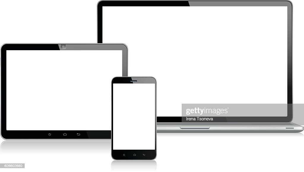 Tablet, Mobile Phone and Laptop
