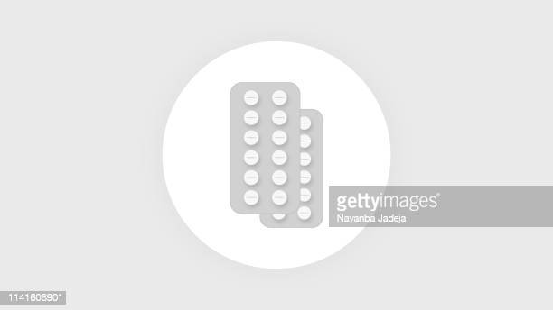 tablet package icon - blister stock illustrations