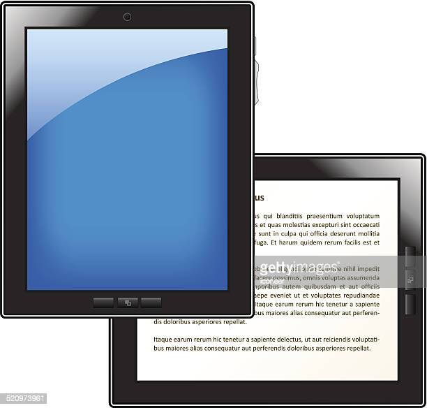 Tablet PC and E-Reader illustration