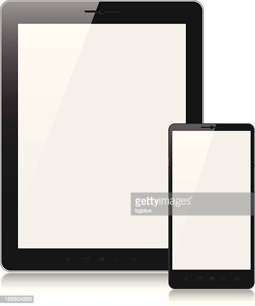Tablet pc and mobile phone with blank screen