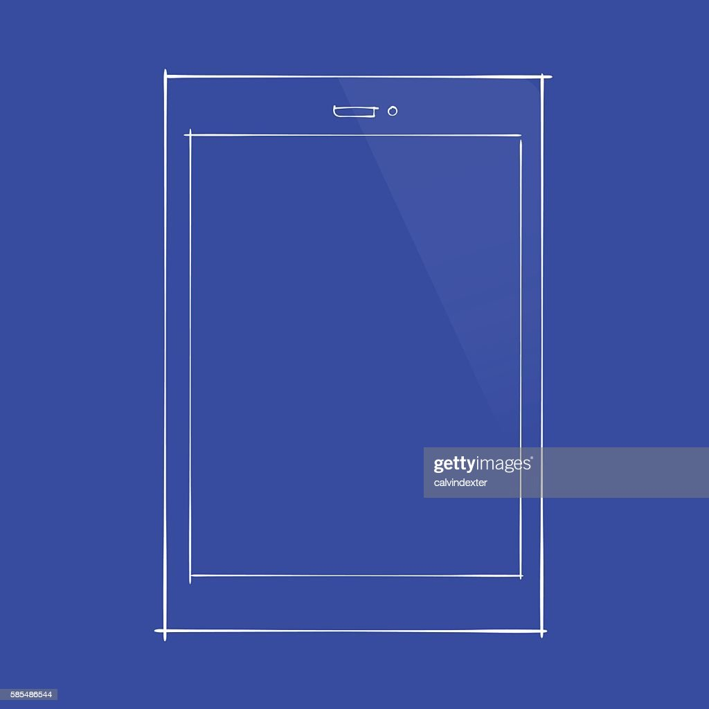 Tablet pc concept design on blueprint document vector art getty tablet pc concept design on blueprint document vector art malvernweather Choice Image
