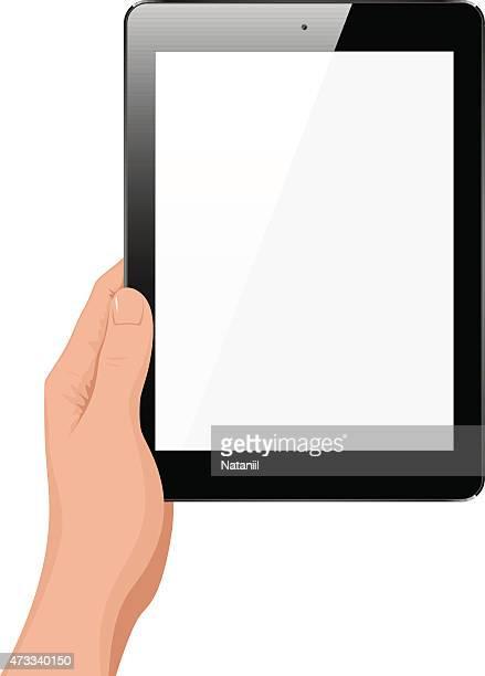 Tablet-PC in der hand
