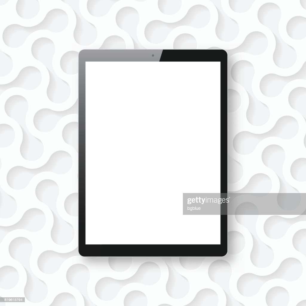 Tablet Pc isolated on white abstract background - Tablet Pc Template : stock illustration