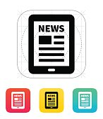 Tablet PC newspaper icon