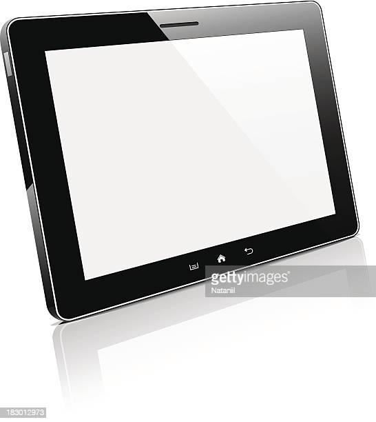 tablet pc - blank screen stock illustrations, clip art, cartoons, & icons