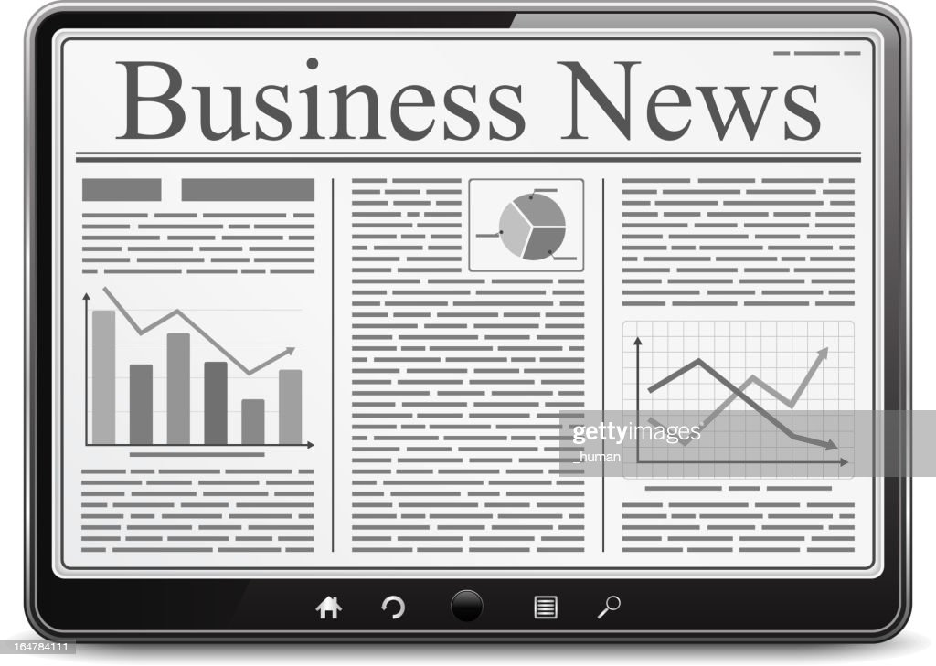 Tablet PC with Business News