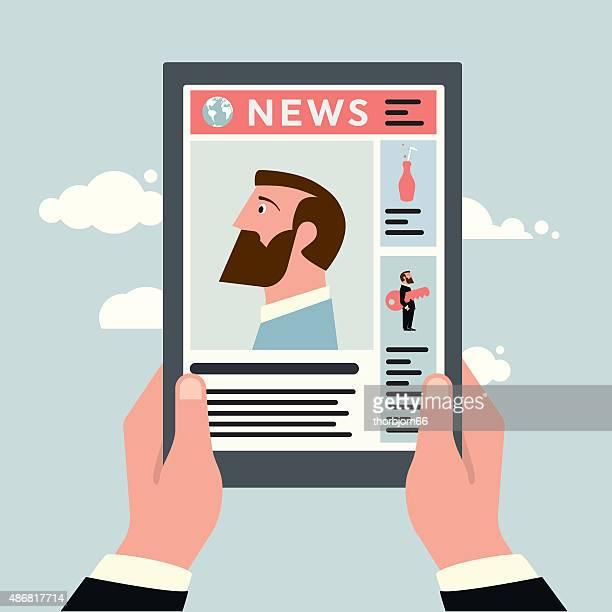 Tablet lesen Nachrichten