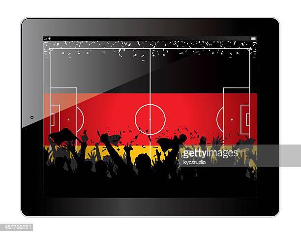 Tablet mit Fußball-Themen Deutschland