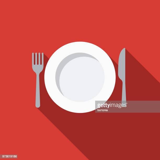 Tableware Flat Design Kitchen Utensil Icon