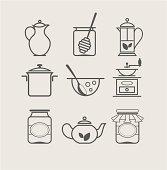 tableware set icon