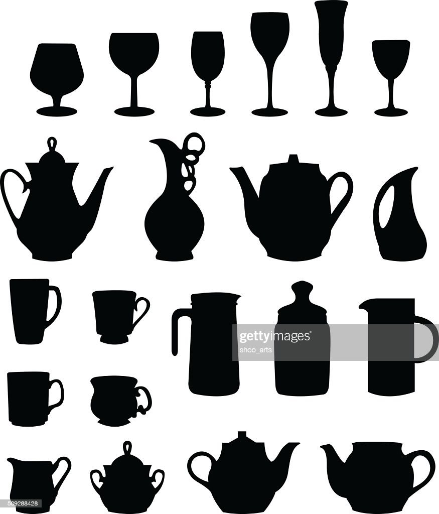 tableware silhouette vector