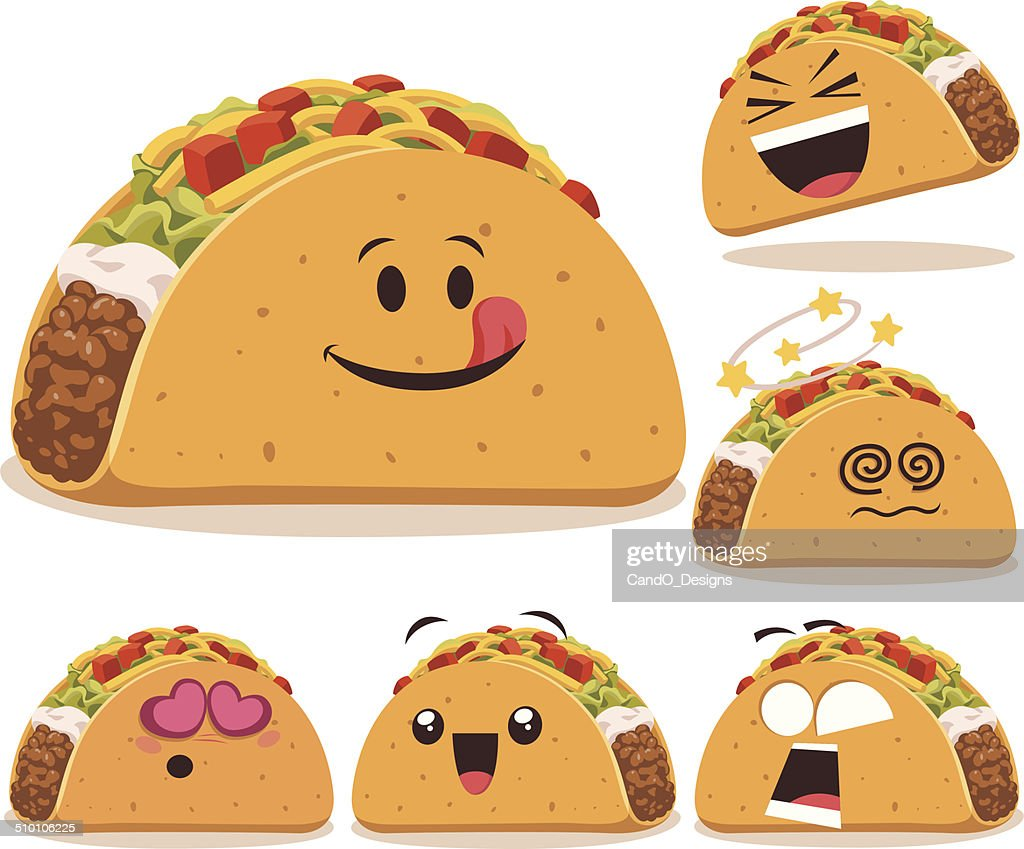 Taco Cartoon Set A