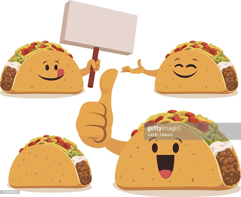 Taco Cartoon Set C