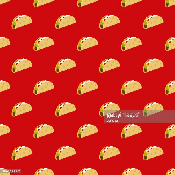 Taco Cinco de Mayo Seamless Pattern