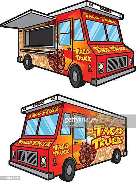 Taco Food Truck: Both Sides, Full Color Icons