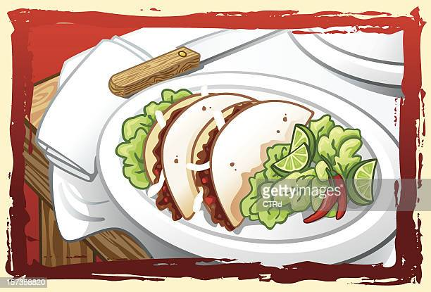 taco meal - mexican food stock illustrations, clip art, cartoons, & icons