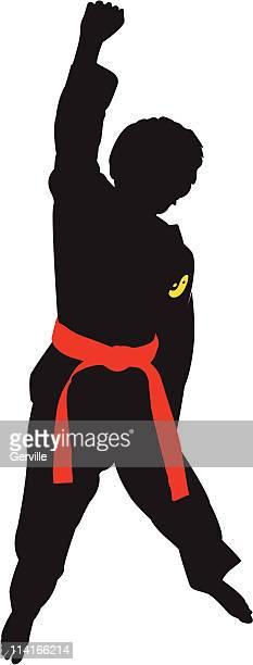 190 Taekwondo High Res Illustrations Getty Images