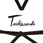 Taekwondo handwritten letter