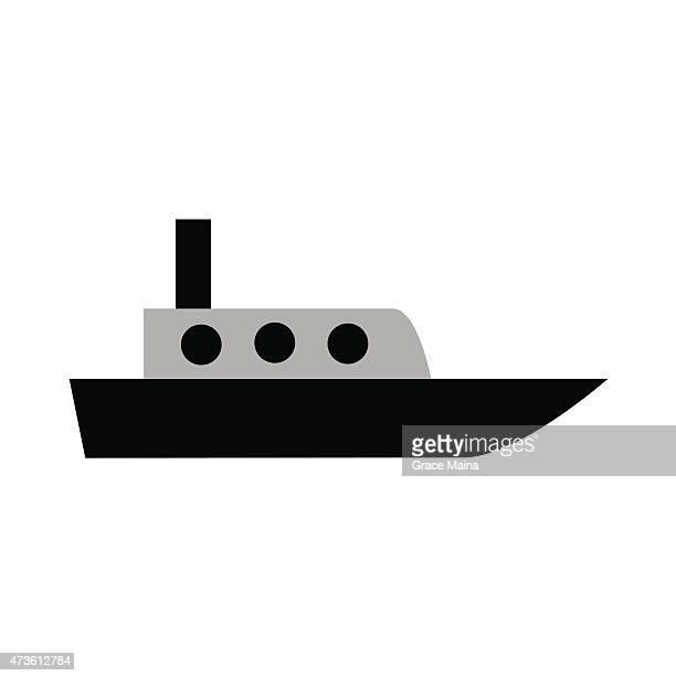 タグボートイラスト-ベクトル