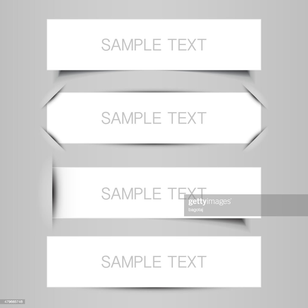 Tag, Label or Banner Designs