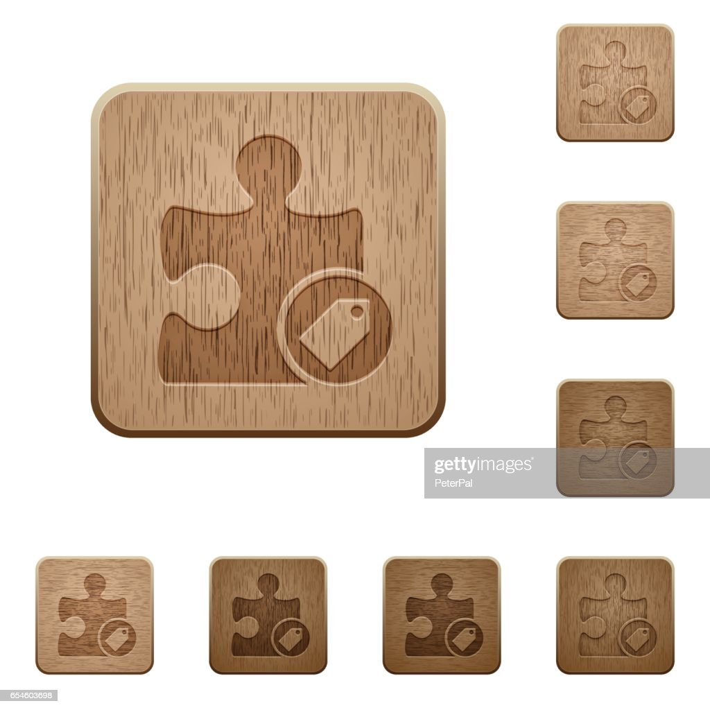 Tag plugin wooden buttons