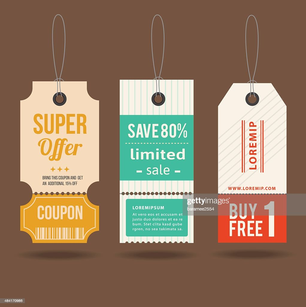 Tag price offer and promotion.