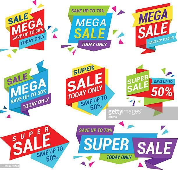 ilustrações, clipart, desenhos animados e ícones de etiqueta de venda - liquidação evento comercial
