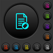 Tagging document dark push buttons with color icons