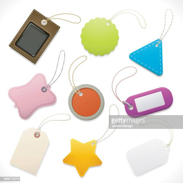 tags and labels set - luggage tag stock illustrations, clip art, cartoons, & icons