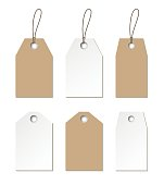 Tags mock up. Vector set of empty labels templates