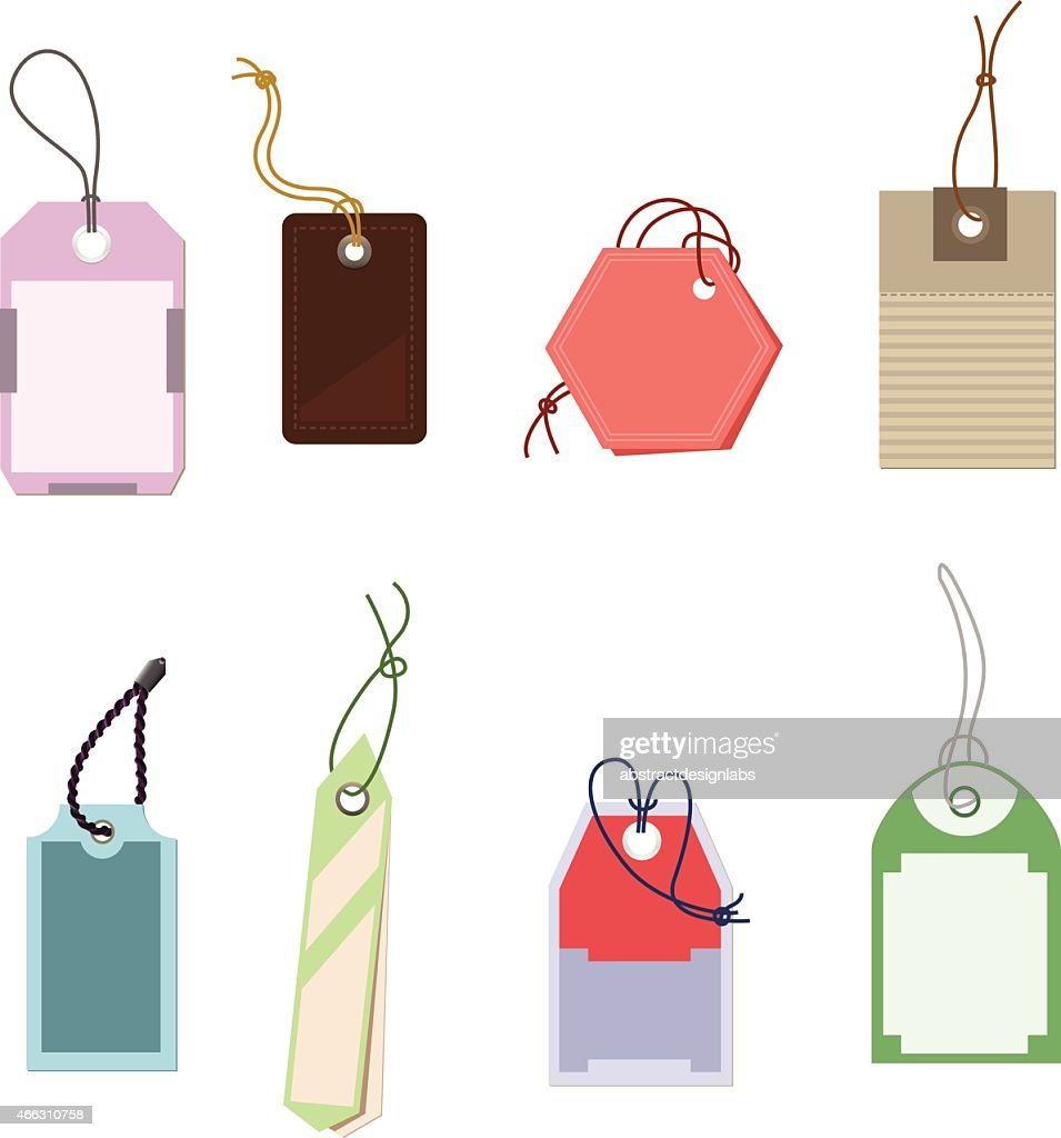 Tags or Price Tags : stock illustration