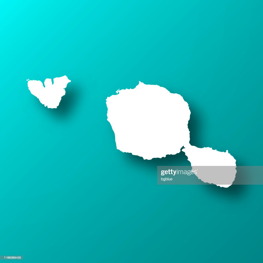 Tahiti French Polynesia Map On Blue Green Background With ...