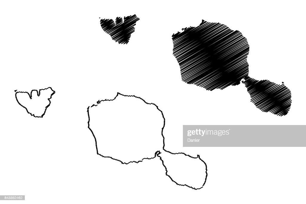Tahiti island map vector