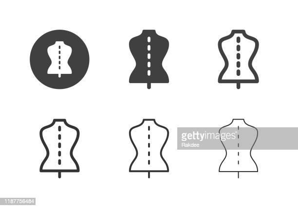 テーラーマネキンアイコン - マルチシリーズ - デザイナー服点のイラスト素材/クリップアート素材/マンガ素材/アイコン素材