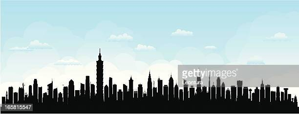 Taipei Skyline (Buildings Are Detailed, Moveable and Complete)