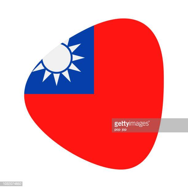 Taiwan - Abstract Flag Vector Flat Icon