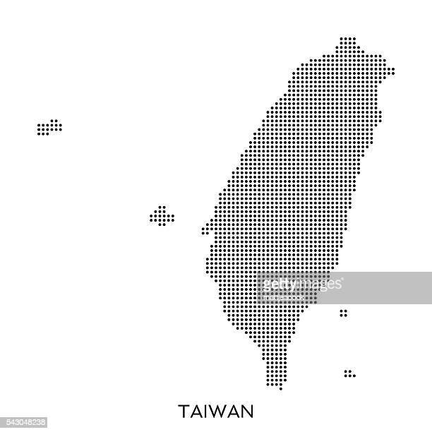 Taiwan dot halftone pattern map