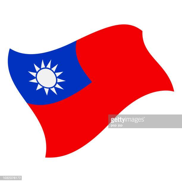 Taiwan - Flying Flag Vector Flat Icon