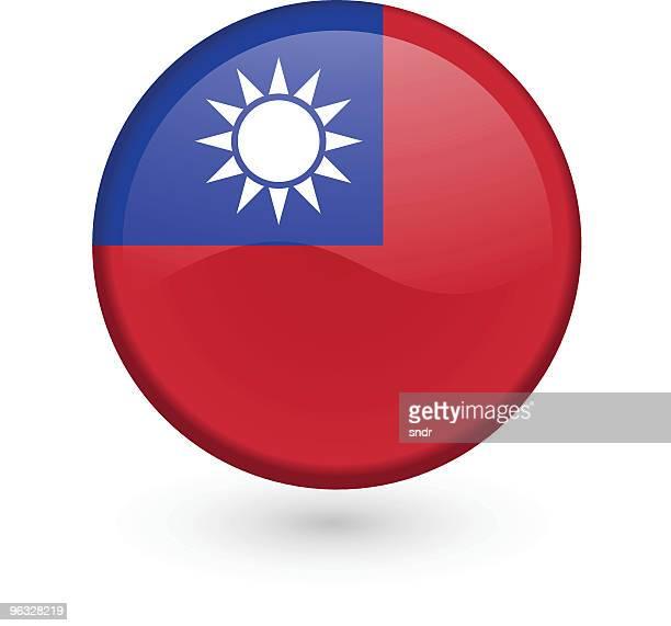 Taiwanese flag vector button