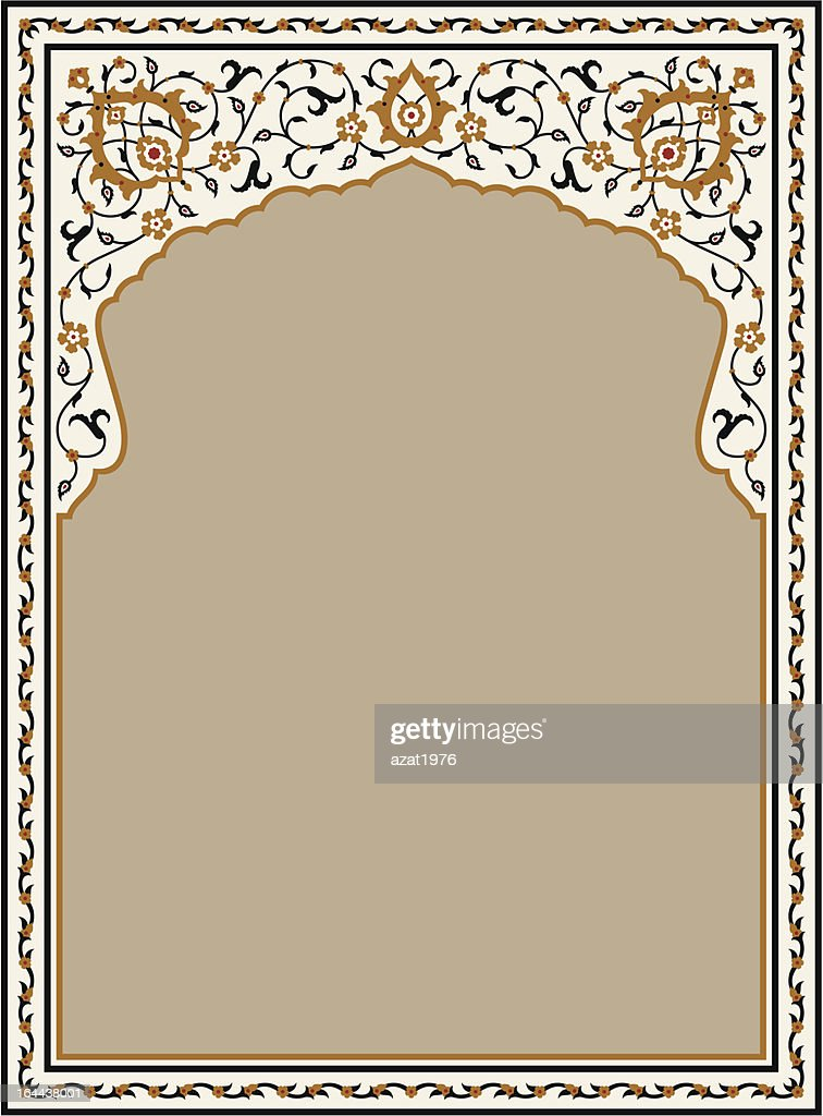 Taj Mahal Floral Frame