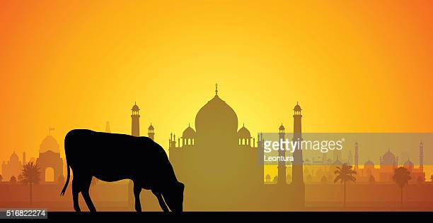 stockillustraties, clipart, cartoons en iconen met taj mahal, india - agra jama masjid mosque