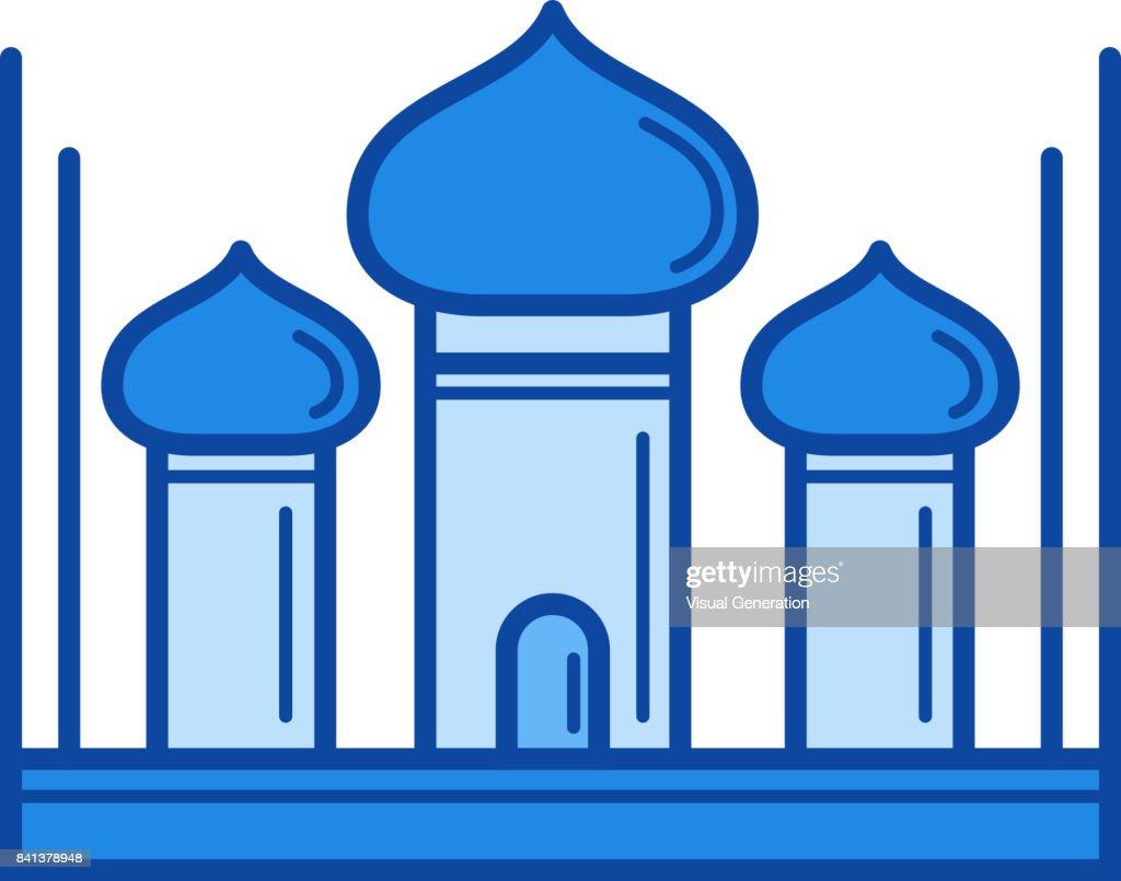 Taj Mahal line icon
